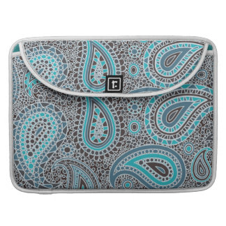 Ocean Blue paisley Sleeve For MacBook Pro
