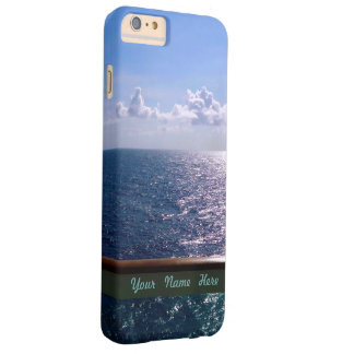 Ocean Blue Personalized Barely There iPhone 6 Plus Case