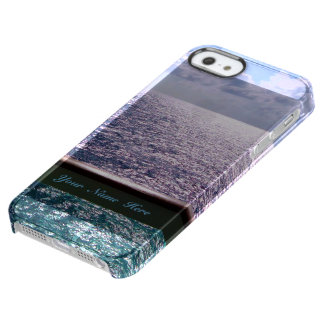 Ocean Blue Personalized Clear iPhone SE/5/5s Case