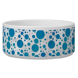Ocean Blue Polka Dots Bowl