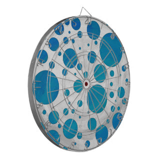 Ocean Blue Polka Dots Dart Board