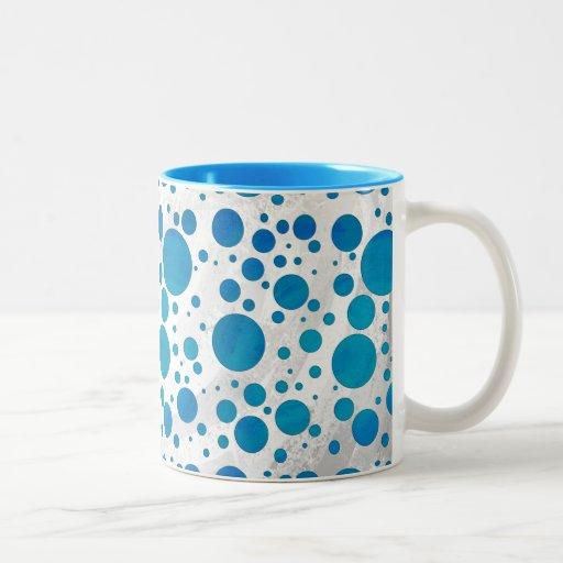 Ocean Blue Polka Dots Mug