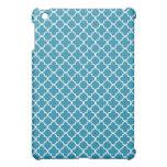 Ocean Blue Quatrefoil Clover Pattern Case For The iPad Mini