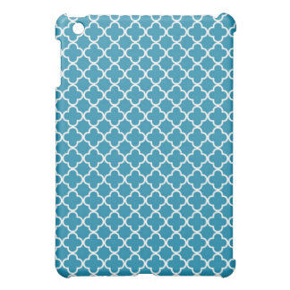 Ocean Blue Quatrefoil Clover Pattern iPad Mini Case