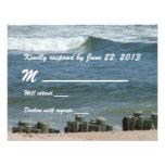 Ocean Blue Response Card Personalized Invitation