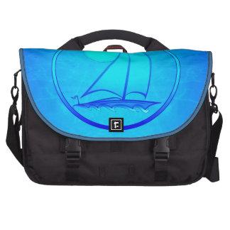 Ocean Blue Sailboat Laptop Computer Bag