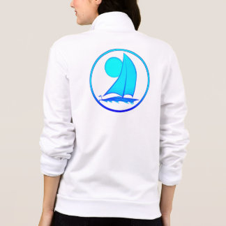 Ocean Blue Sailboat Printed Jacket