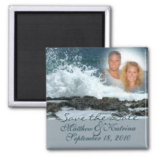 Ocean Blue/ Save the Date Fridge Magnets