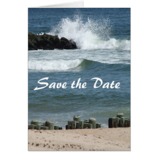 Ocean Blue Save the Date Note Cards