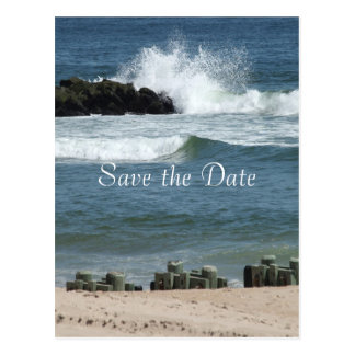 Ocean Blue Save the Date Postcards