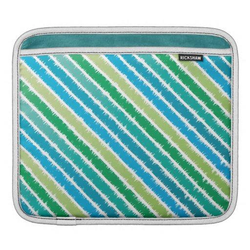 Ocean Blue & Sea Green Computer Sleeve Sleeve For iPads