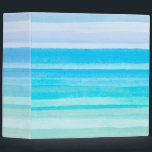 """Ocean Blue Teal Watercolor Ombre Stripe Binder<br><div class=""""desc"""">Check out www.zazzle.com/Sweetbriar_Drive for so many other beautiful styles,  items &amp; colors! &#169; SweetbriarDrive 2014. Do not copy.</div>"""
