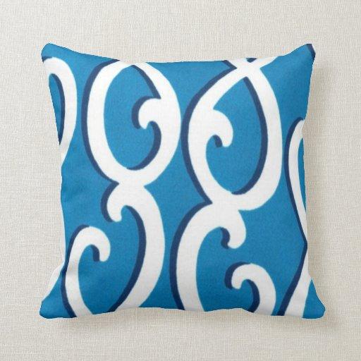Ocean Blue Decorative Pillows : Ocean Blue Throw Pillow Zazzle