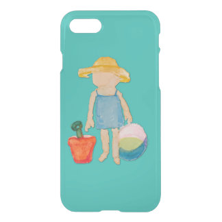 Ocean Blue Toddler Baby Girl at Beach iPhone 7 Case
