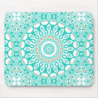 Ocean Blue Turquoise Medallion Mouse Pad