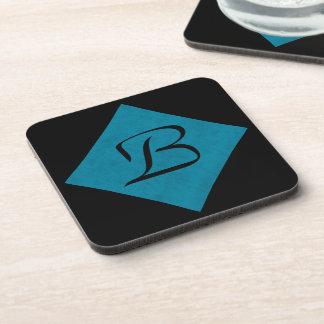 Ocean Blue Velvet Personalized Home Casino Beverage Coasters