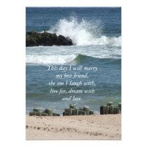 Ocean Blue Wedding Invitations