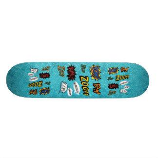 Ocean blue zoom kaboom skateboard deck