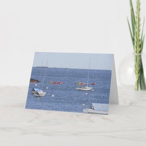 Ocean boats Card card