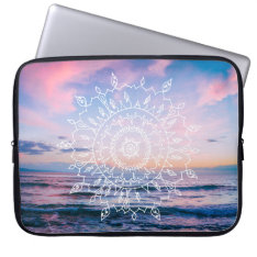 Ocean Boho Mandala   Laptop Sleeve at Zazzle