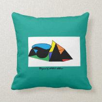 Ocean Breeze abstract pillow