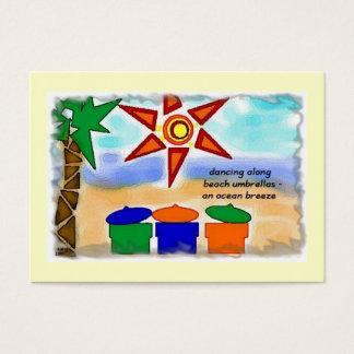 OCEAN BREEZE ACEO HAIKU ART TRADING CARD