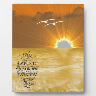 Ocean Breeze and Serentity Prayer Plaque