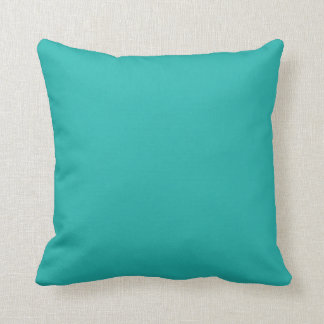Ocean Breeze Aqua Teal Blue Solid Color Backround Throw Pillows