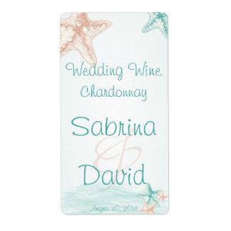 Ocean Breeze Beach Wedding  Wine Label