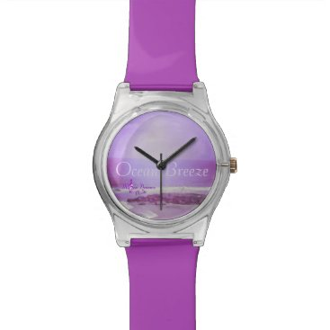 Beach Themed Ocean Breeze Purple Ocean and Sky May 28th Watch