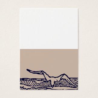 Ocean Breeze | Rustic Beach Custom Placecard Business Card
