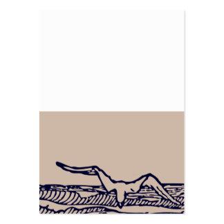 Ocean Breeze | Rustic Beach Custom Placecard Large Business Card