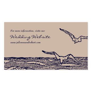Ocean Breeze | Rustic Beach Wedding Website Card