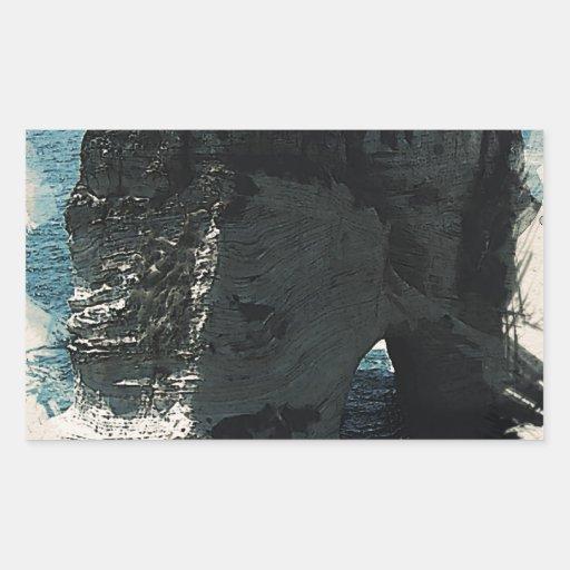 ocean bridge rectangular sticker