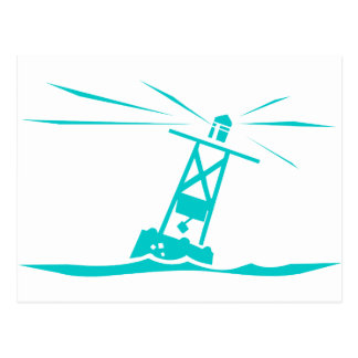 Ocean buoy postcard
