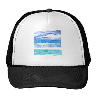 Ocean Calypso - turquoise beach surf painting Trucker Hat