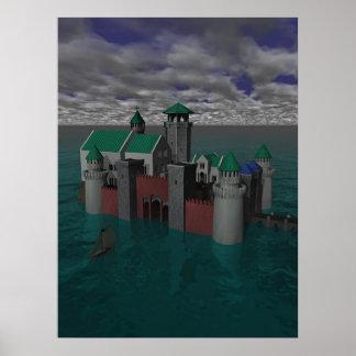 Ocean Castle Poster