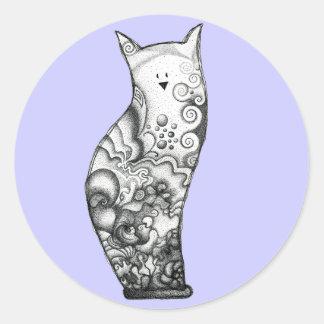 Ocean Cat Lavender Sticker