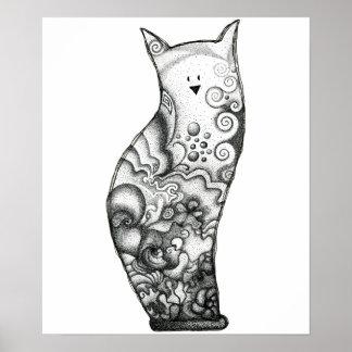 Ocean Cat Print