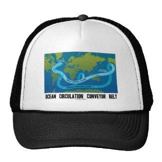 Ocean Circulation Conveyor Belt (World Map) Trucker Hat
