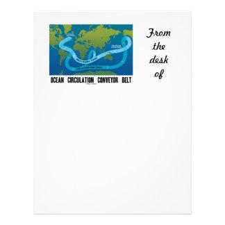 Ocean Circulation Conveyor Belt (World Map) Letterhead