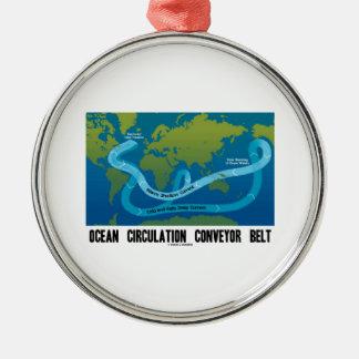 Ocean Circulation Conveyor Belt (World Map) Metal Ornament