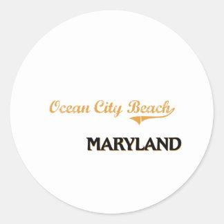 Ocean City Beach Maryland Classic Classic Round Sticker
