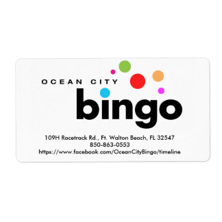 Ocean City Bingo Label