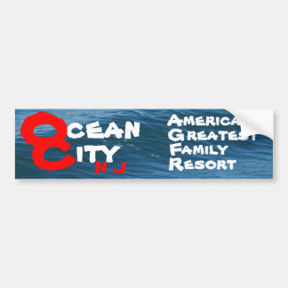 Ocean City Car Bumper Sticker