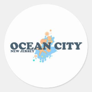 Ocean City. Classic Round Sticker