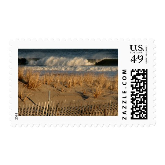 Ocean City Dunes with Waves Postage