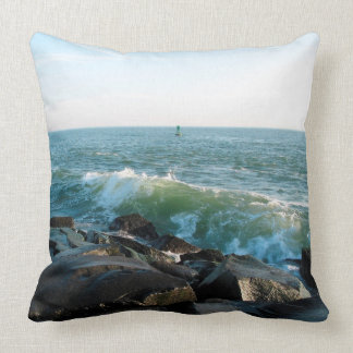 Ocean City Inlet Throw Pillow