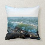 Ocean City Inlet Throw Pillow