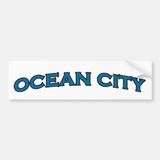 Ocean City Maryland Arched Text Logo Bumper Sticker